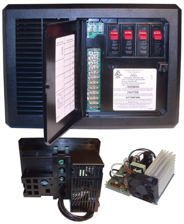 12v Distribution Control Panel  45a Converter Pd4045 Rv