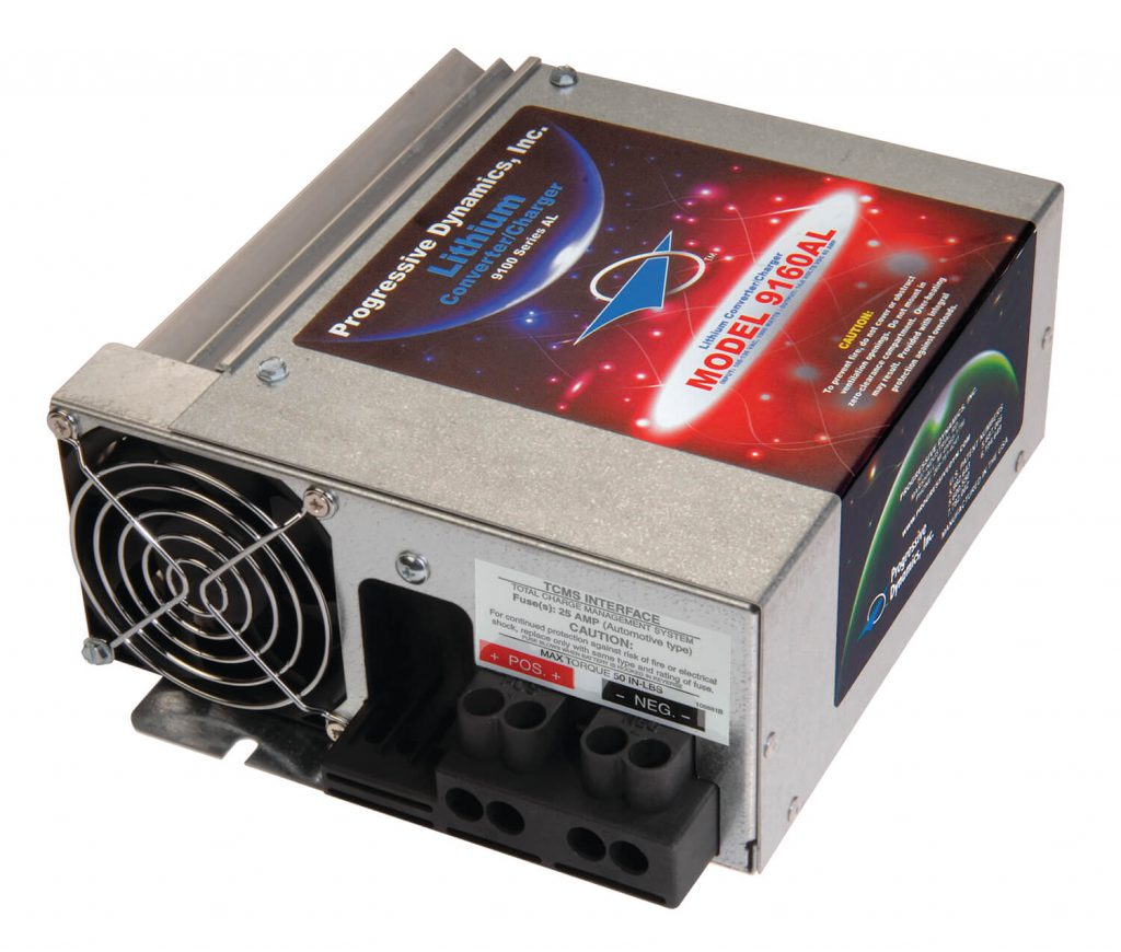 Pd9100l Series Lithium Battery Converter Chargers Low Profile Power Converters Of In 12 And 24 Volts