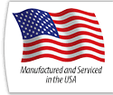 Manufactured and Serviced in the USA
